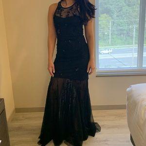 Parker New York Black Embellished Gown